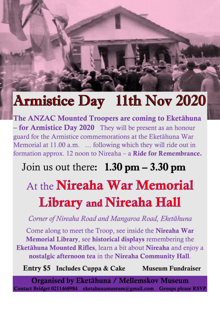 ANZAC troopers Armistice Day Details.