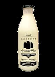 Country Milk In Glass Bottles