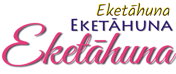Eketāhuna in three fancy fonts