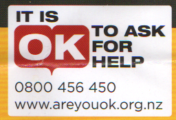 It is OK to ask for help ph 0800 456 450